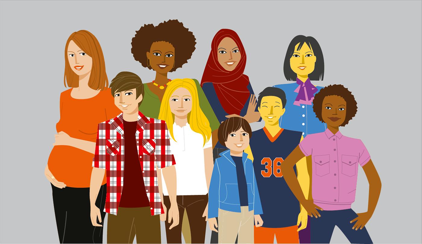 Character design  lifestyle llustrator Vectorial vettoriale