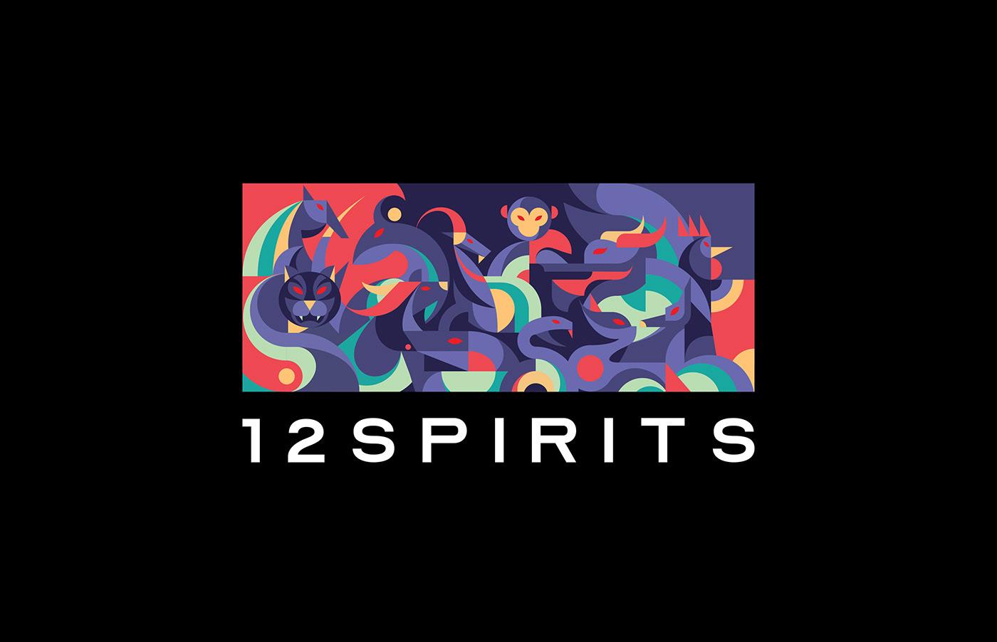 12zodiacs animal artconcept branding  identity logo Packaging vietnamese ILLUSTRATION  toy