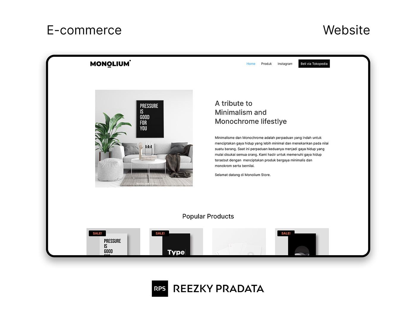 clean landing page minimalist shop store UI/UX Web Web Design  Website wordpress