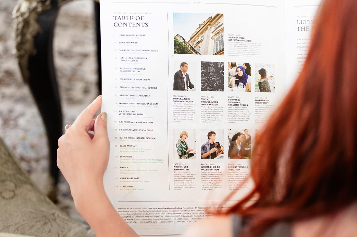 annual report News Paper magazine Big Format