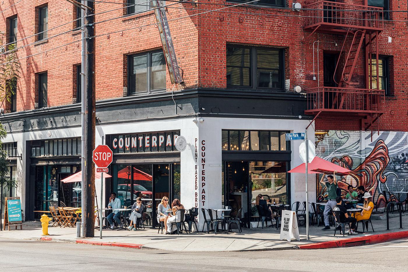 branding  brunch cafe Echo Park Food  illustrations Los Angeles Plant-Based restaurant vegan