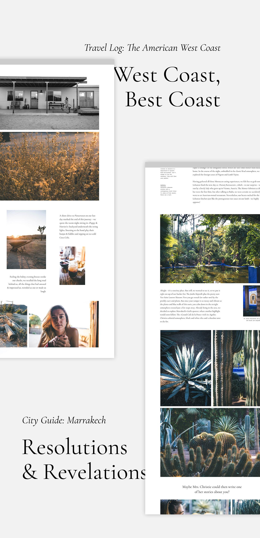 online magazine Digital Magazine Travel Magazine Travel interviews Sustainability Website journalism   copywriting  Web Design