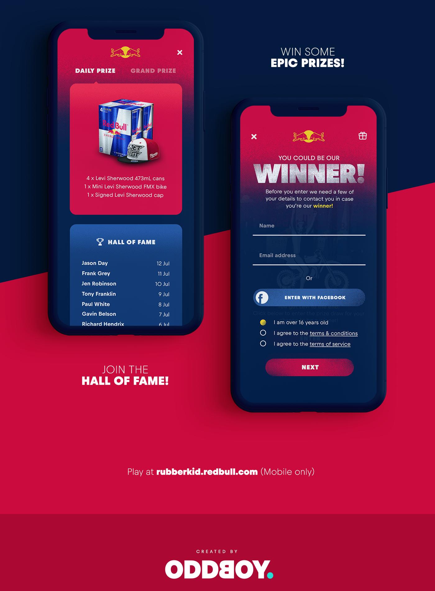 game design Red Bull Web development fmx web gl mobile Gaming Advertising