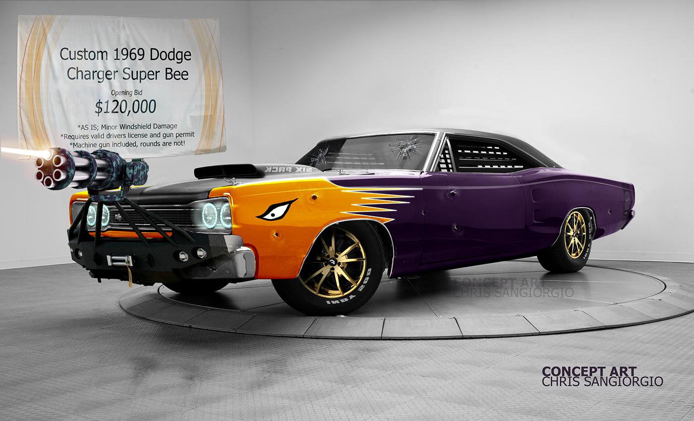 Concept Art El Carro De Dur 225 N 1969 Dodge Superbee On