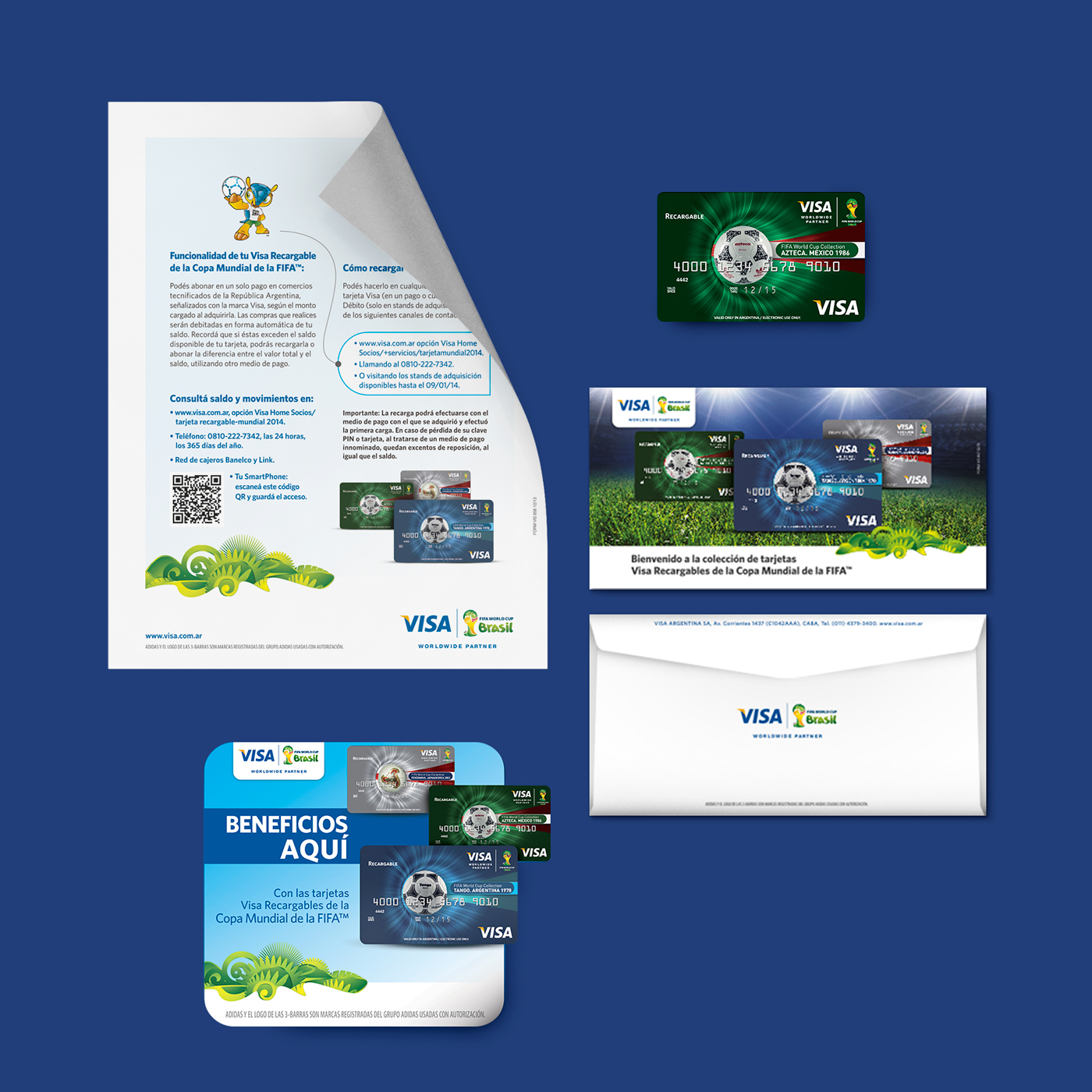 Visa mundial Brasil 2014 Tarjetas promo