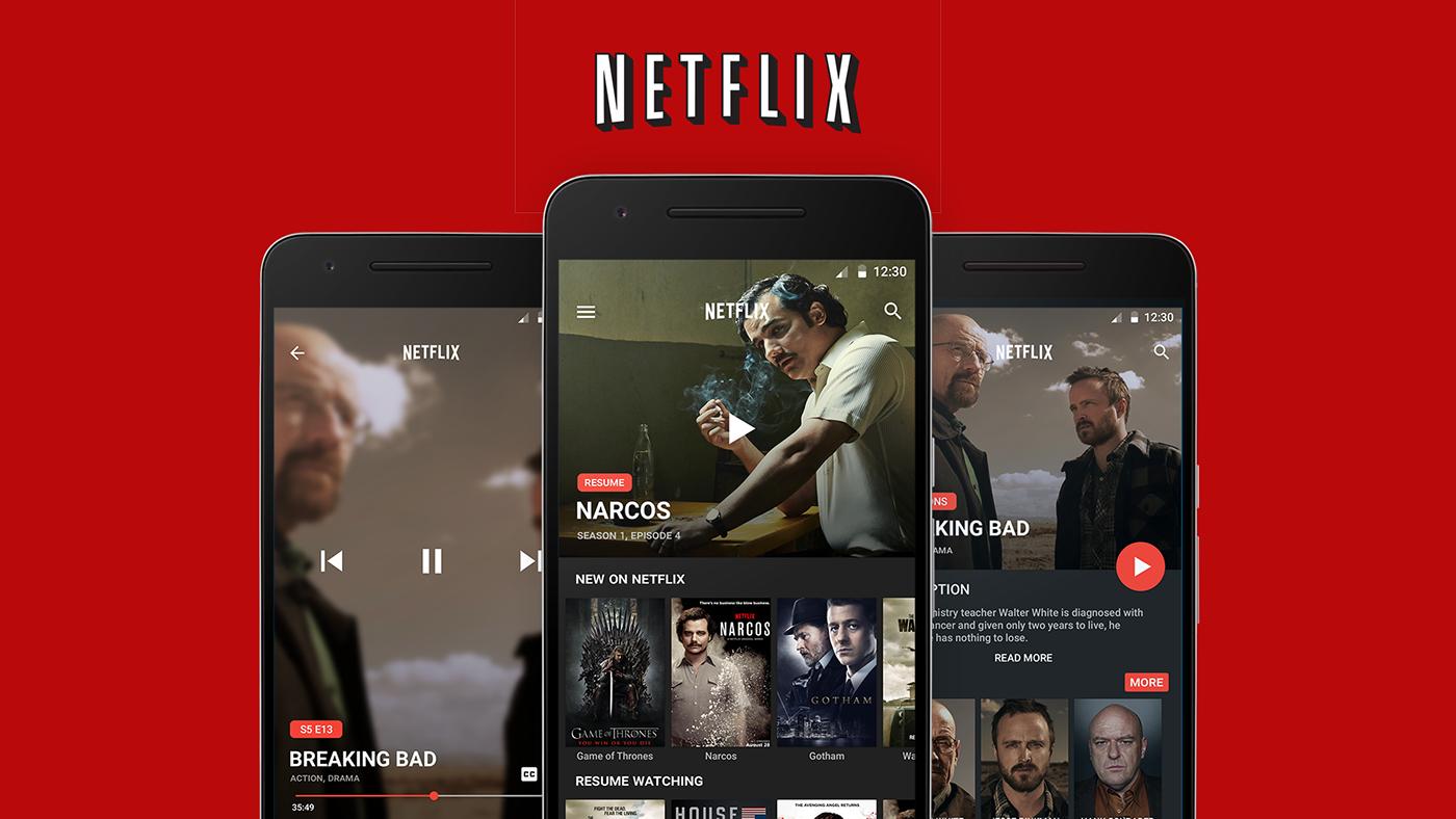 Netflix Android App Design Concept