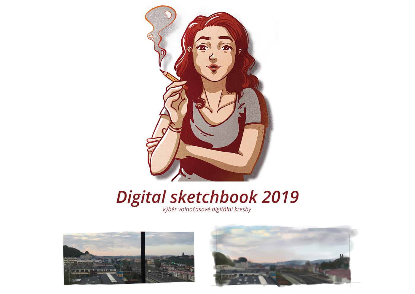 digital Digital Art  Digital Sketch Drawing  Procreate selfportrait sketchbook sketching
