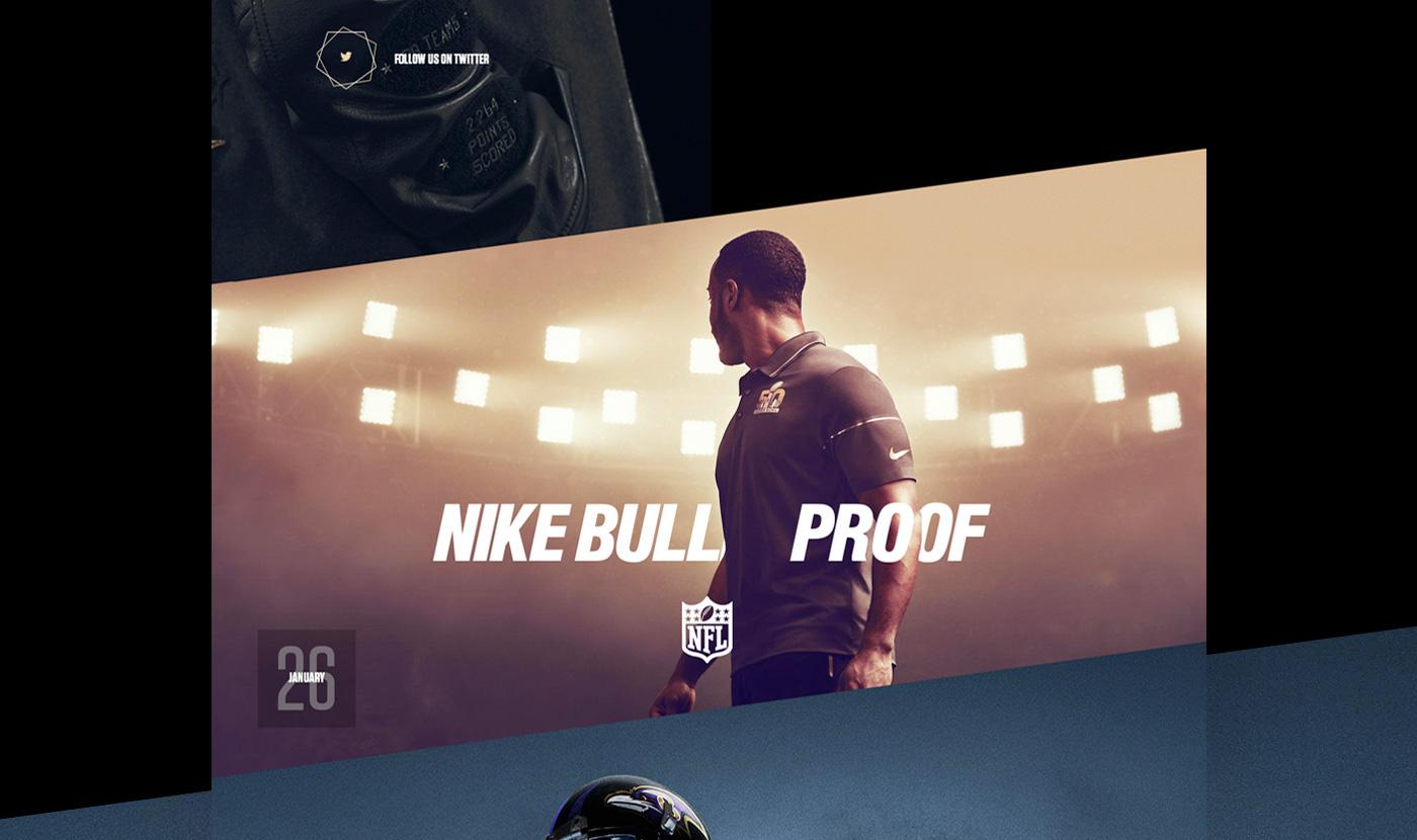 Nike superbowl design Webdesign Layout Interface art direction  visual sport template