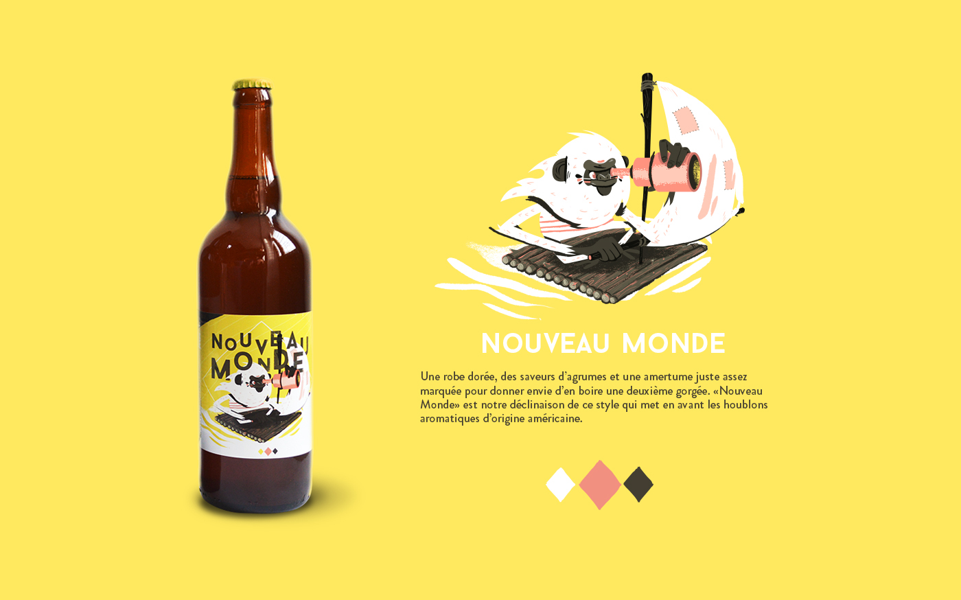 craftbeer characters beer animals Packaging wheat stout apa