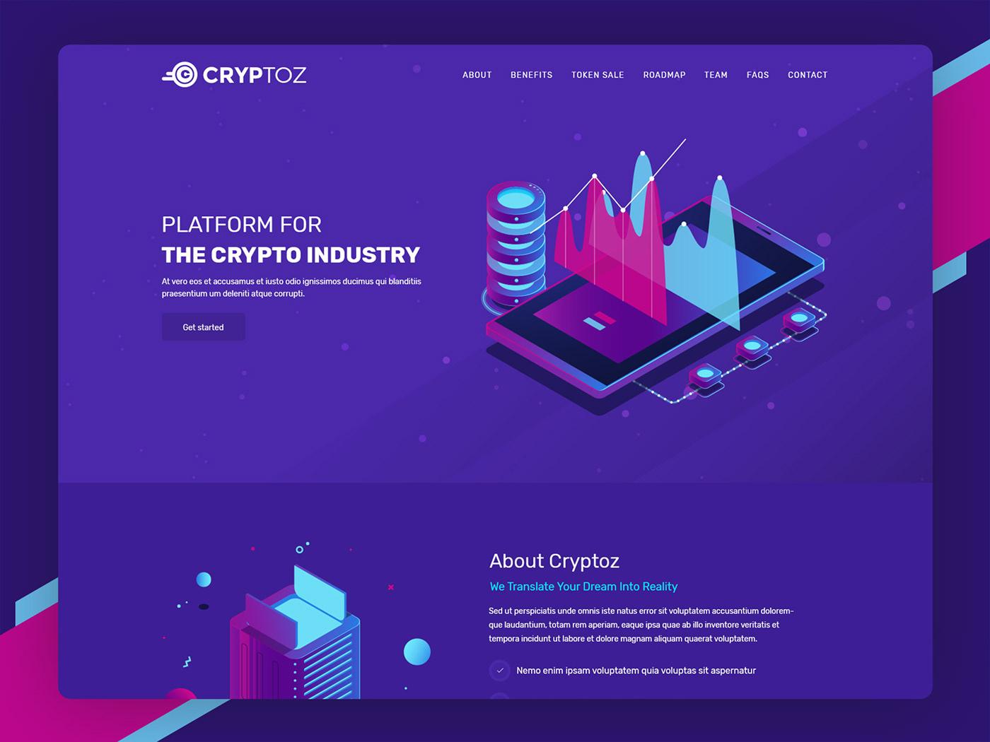 bitcoin crypto crypto currency HTML Template Ico parallax templatescoder
