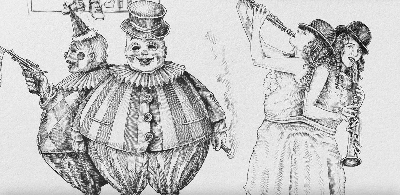 Circus freak show bizarre ILLUSTRATION