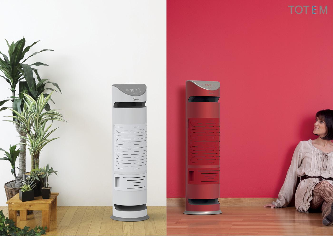 Air conditioner Midea politecnico di milano electrodomestic Stand FLOOR Design and Engineering