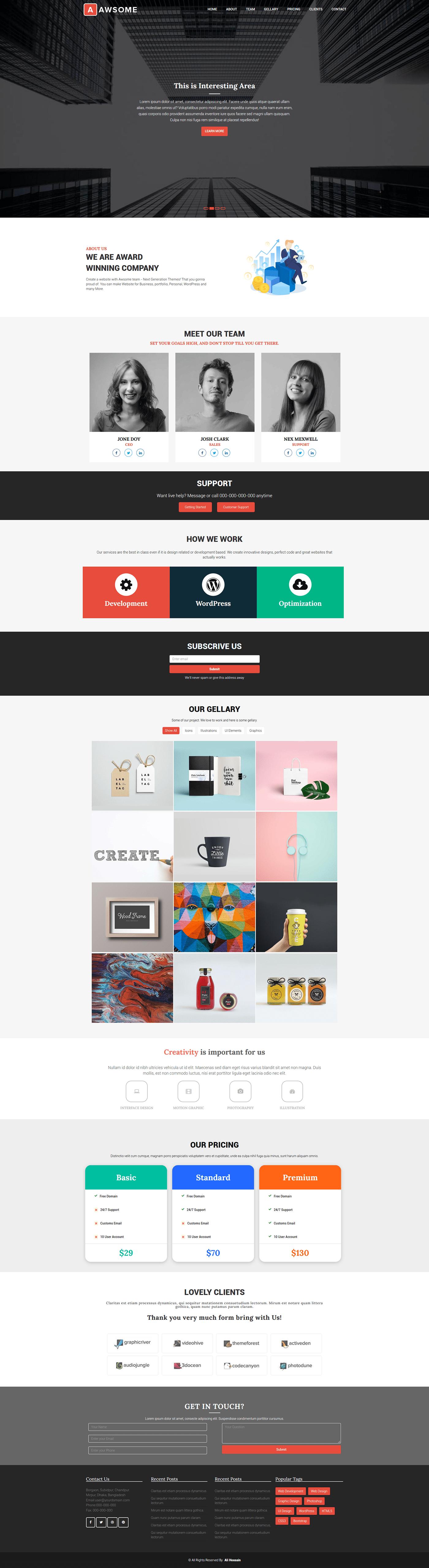 graphic design  ui design web desing web template design Web UI landing page landing page design