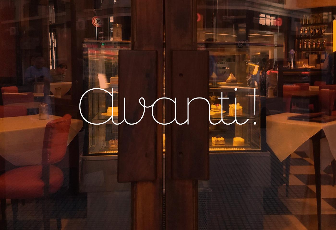 branding  buenos aires decorative graphic design  restaurant Script typography