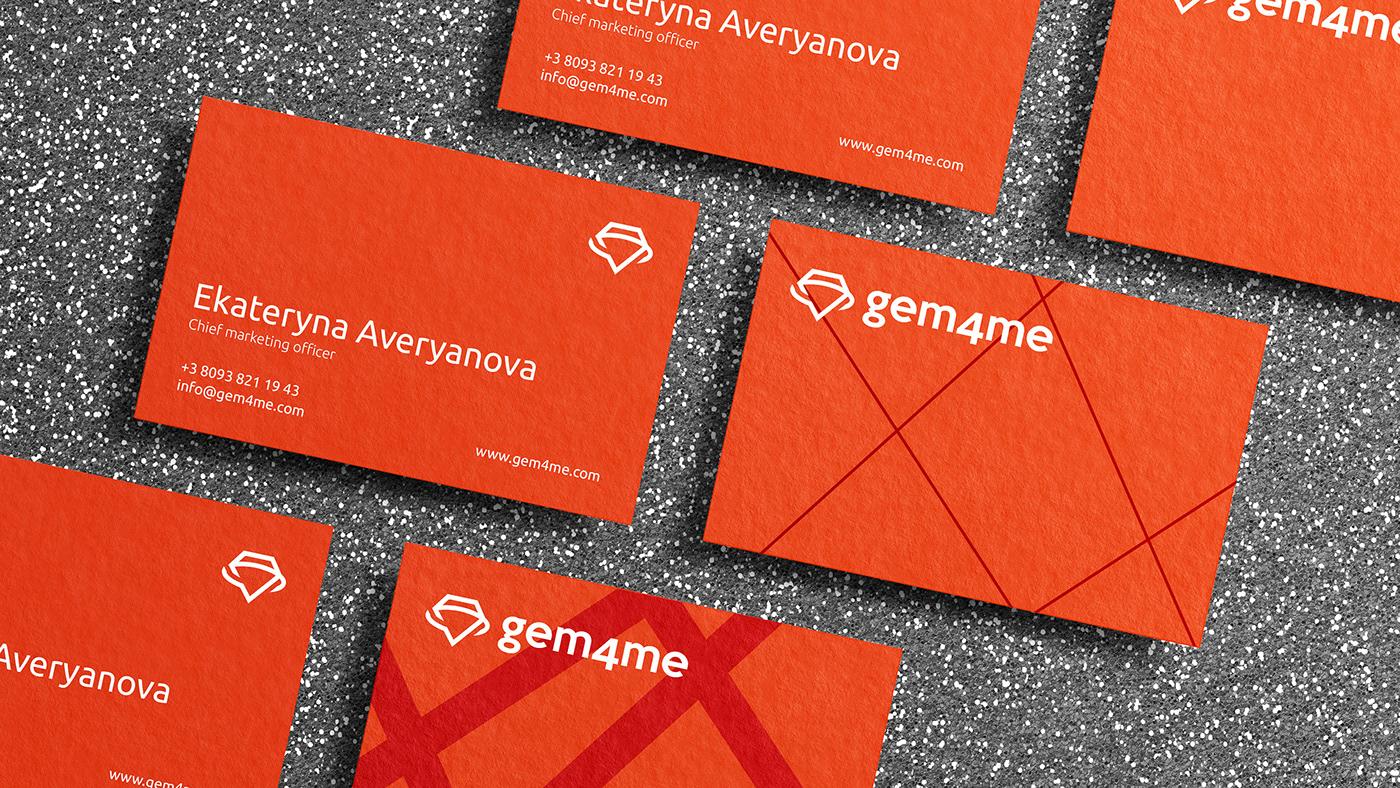 gem4me branding  identity messenger logo mark brand Startup