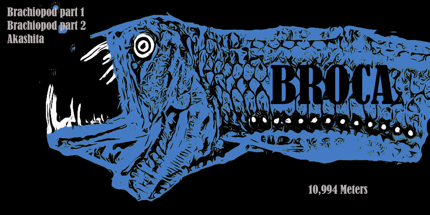 Album artwork by Colin Bragg for Broca (front and back)