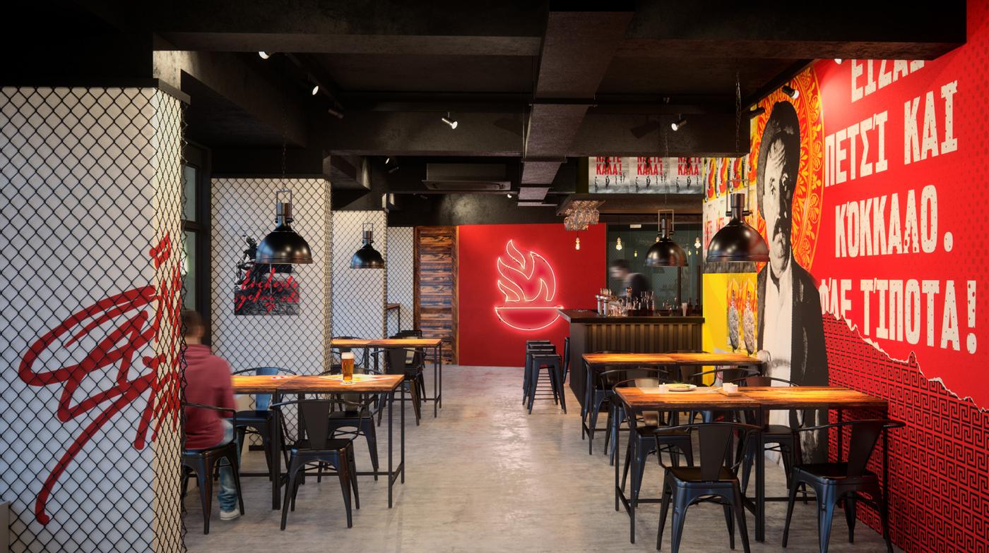 Brand identity and interior design for greek restaurant souva