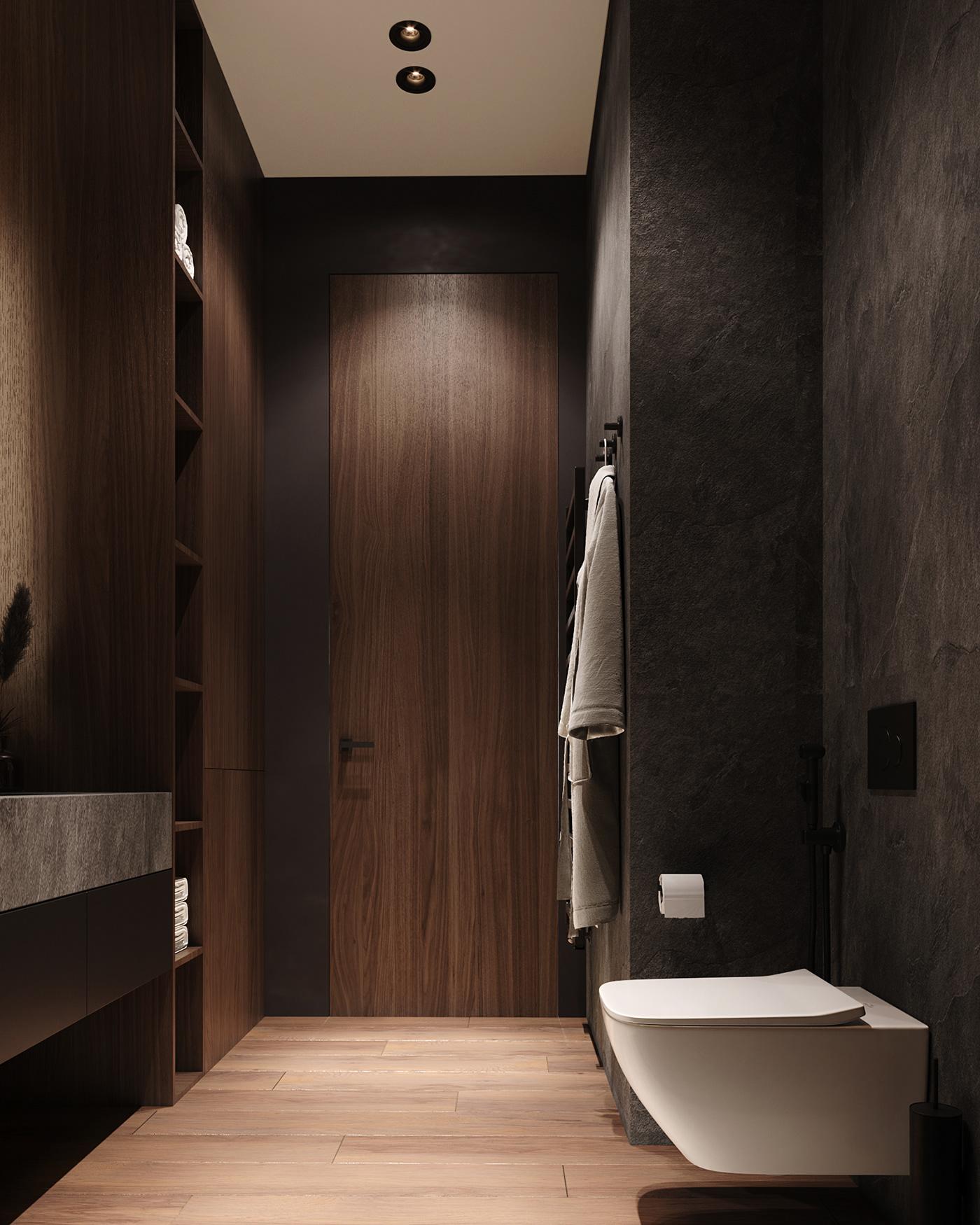 Dark Bathroom On Behance