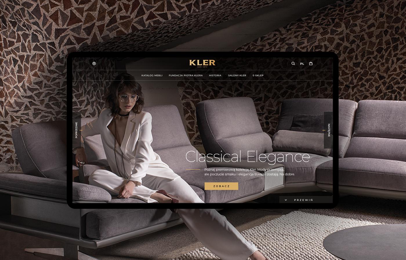 architecture Classic furniture Interior kler timeline Web Website