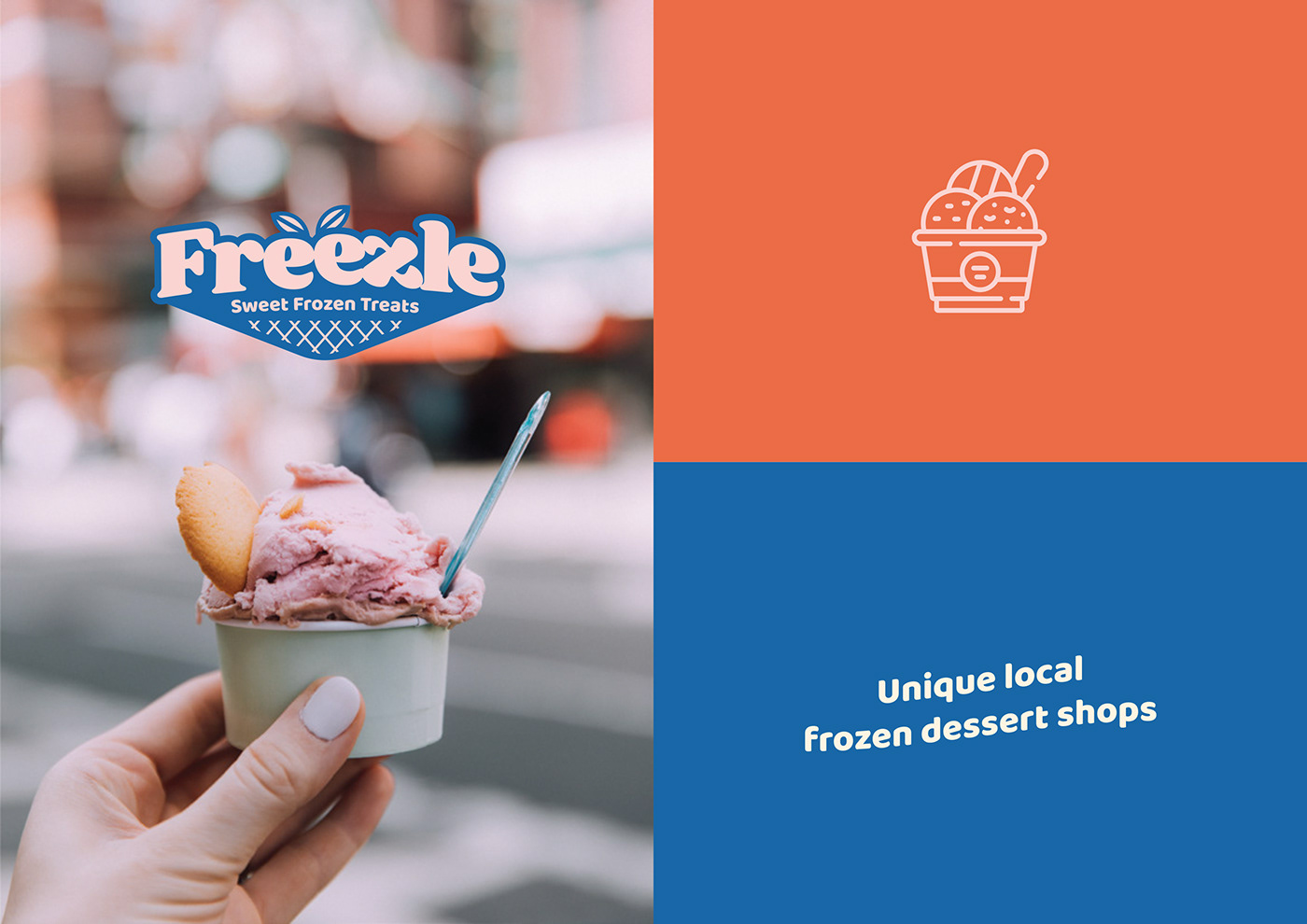 branding  design Design Graphic food and beverage ice cream rebranding repackaging
