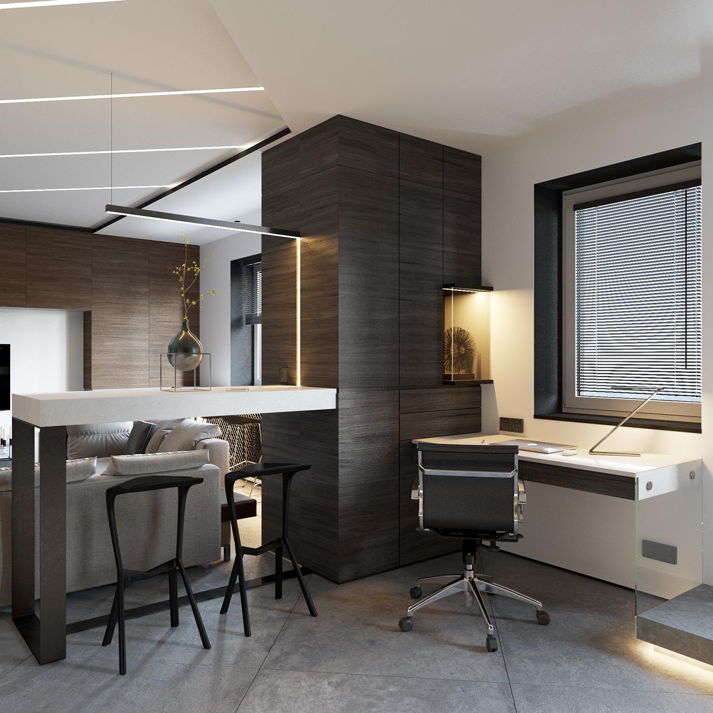 【国外作品】现代公寓设计效果