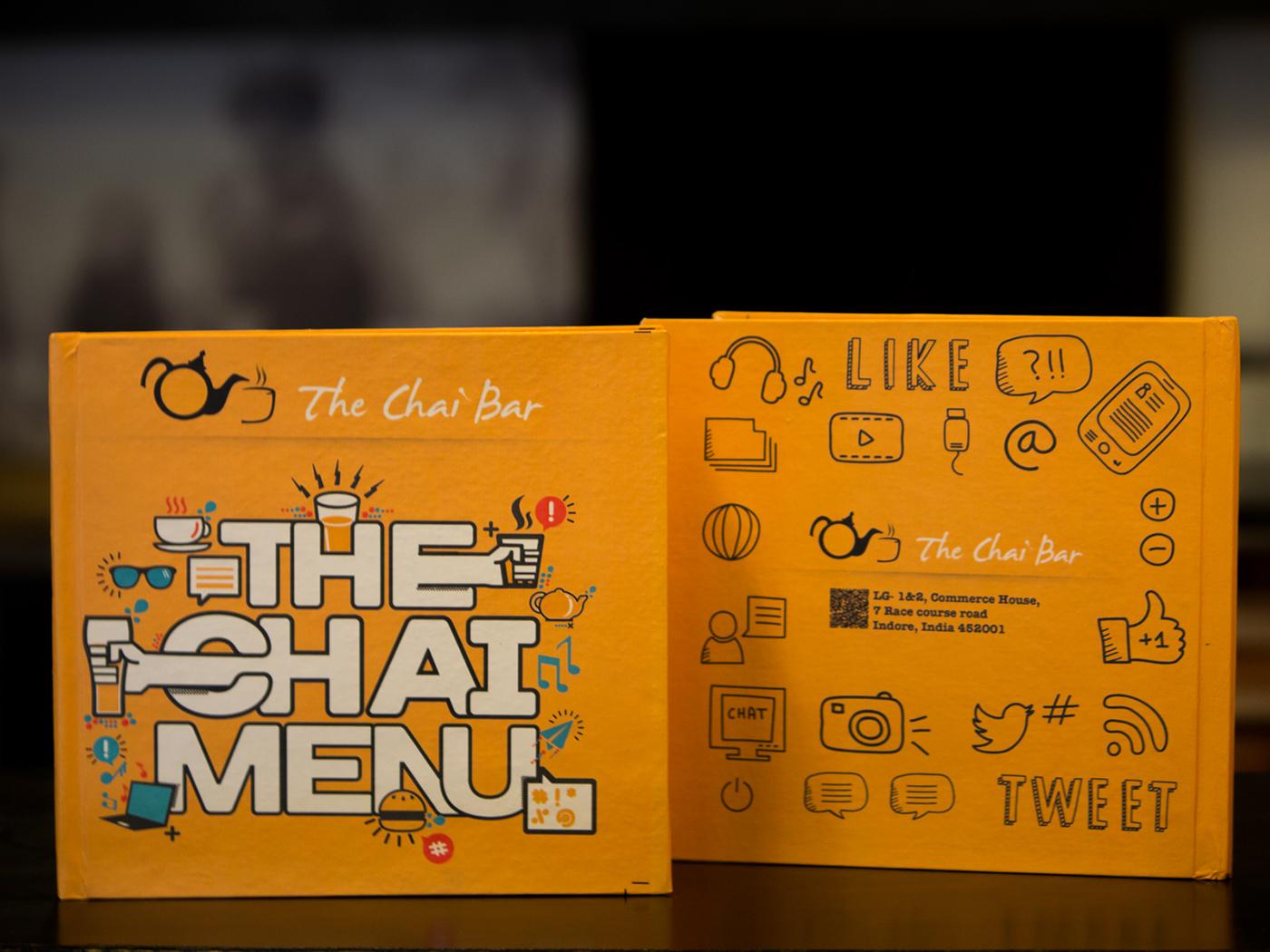 Chai Bar Cafe Menu On Behance