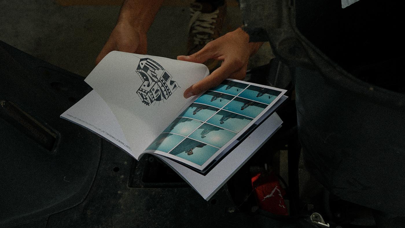 book editorial fanzine graphic graphicdesign Photography  print Zine