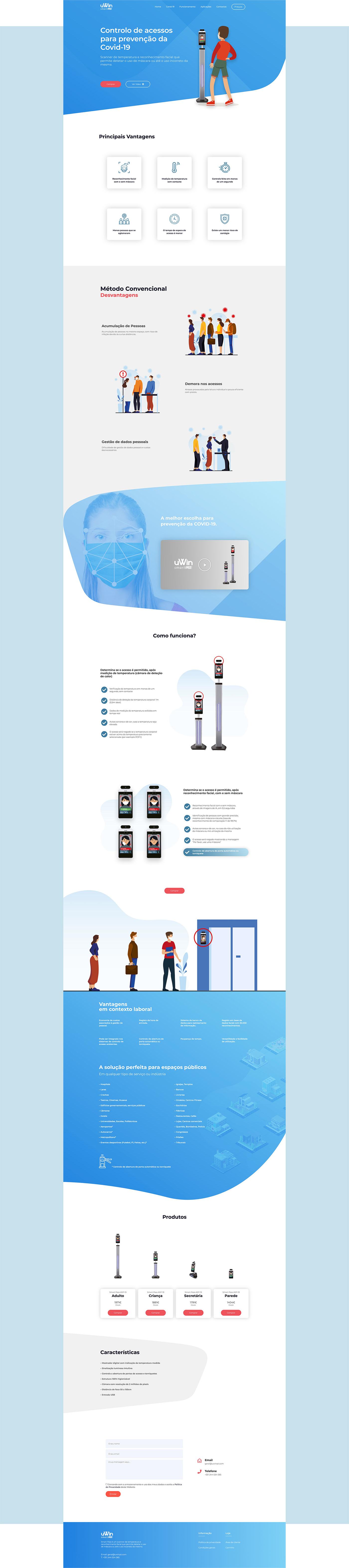 Coronavirus COVID-19 device landing page Layout Online shop online store UI/UX Web Design  web development