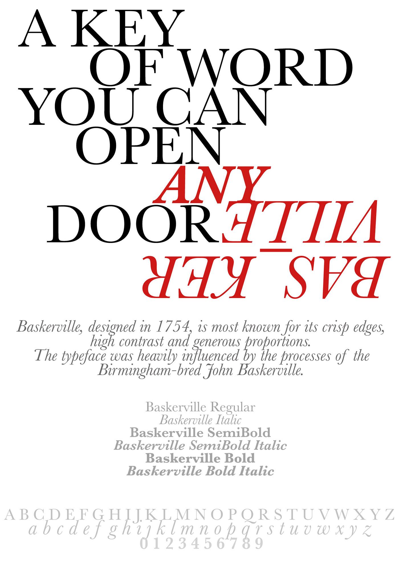 Typography - Type Specimen Poster on Behance