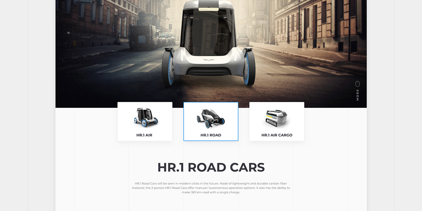 creative flat Flying car Render clean Interface Cargo retouch transportation