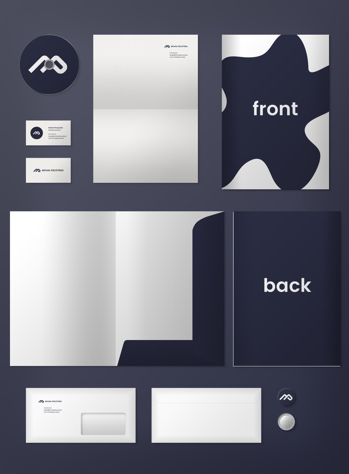Mockup mock up folder business card letterhead psd stationary identity branding  envelope