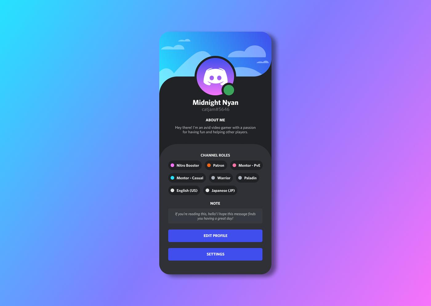 app daily ui DailyUI discord Figma Gaming Interface UI UI/UX ux