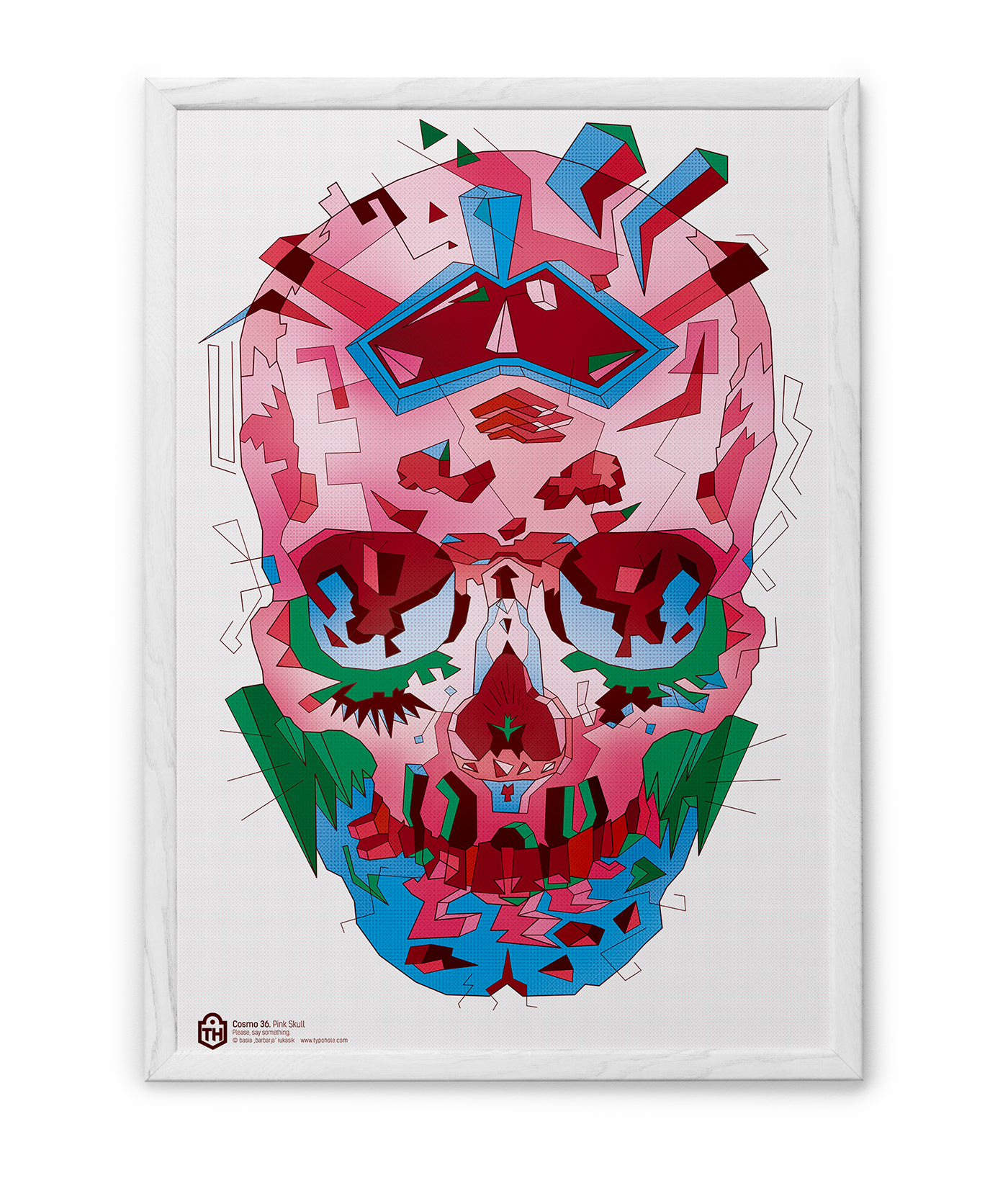 skull draw czaszka design artist creative color adobe typohole