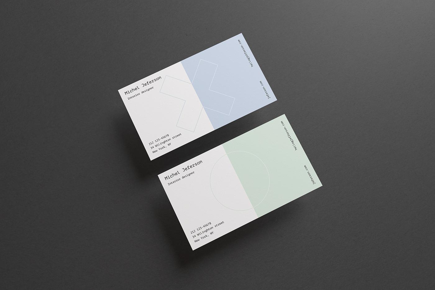 Horizontal Business Cards Mock-up (free) on Behance