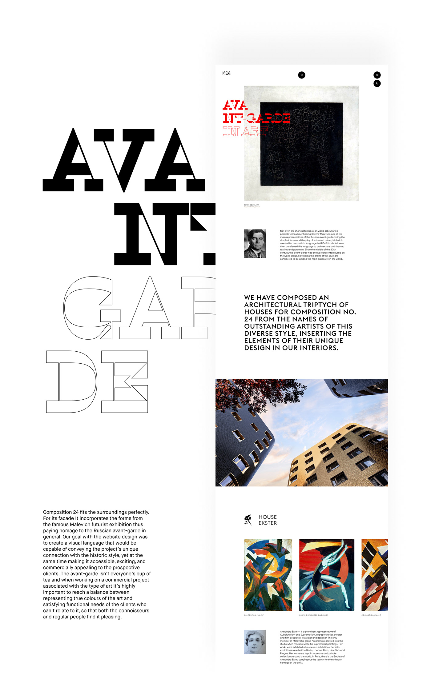 k24,composition,real estate,avantgrade,Suprematism,20th,Residence,Moscow