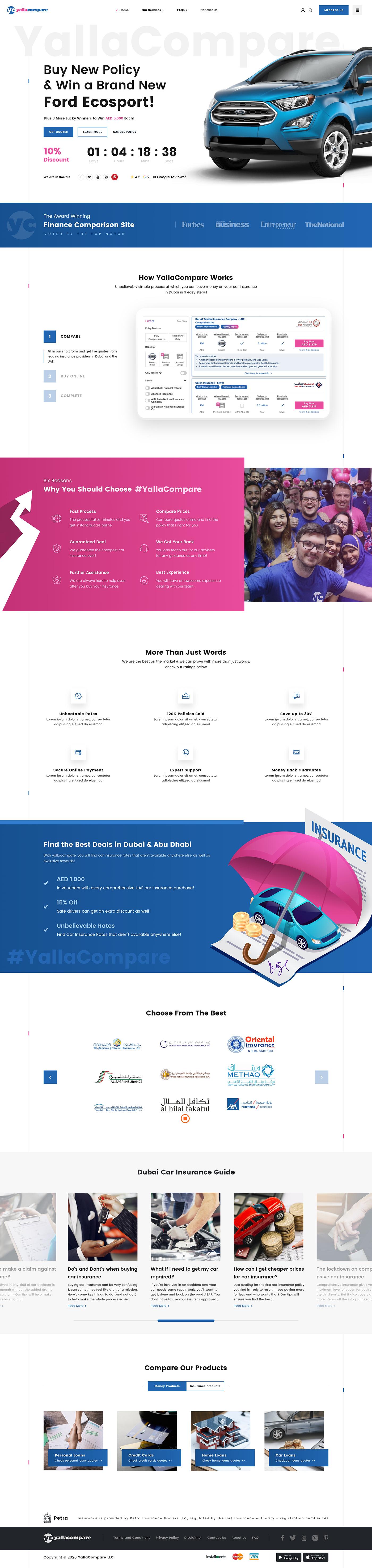 Free web ui/x design yallacompare yallacompare web design