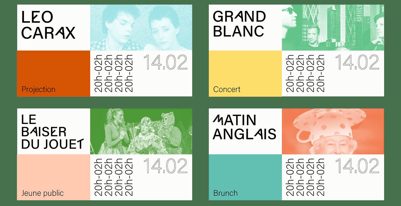 visual identity concert Event music art Barge Paris party menu
