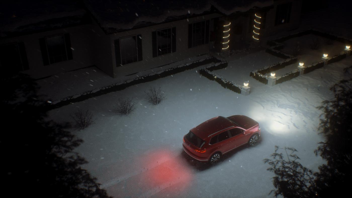 camfrae car Christmas environment Magic   touareg volkswagen