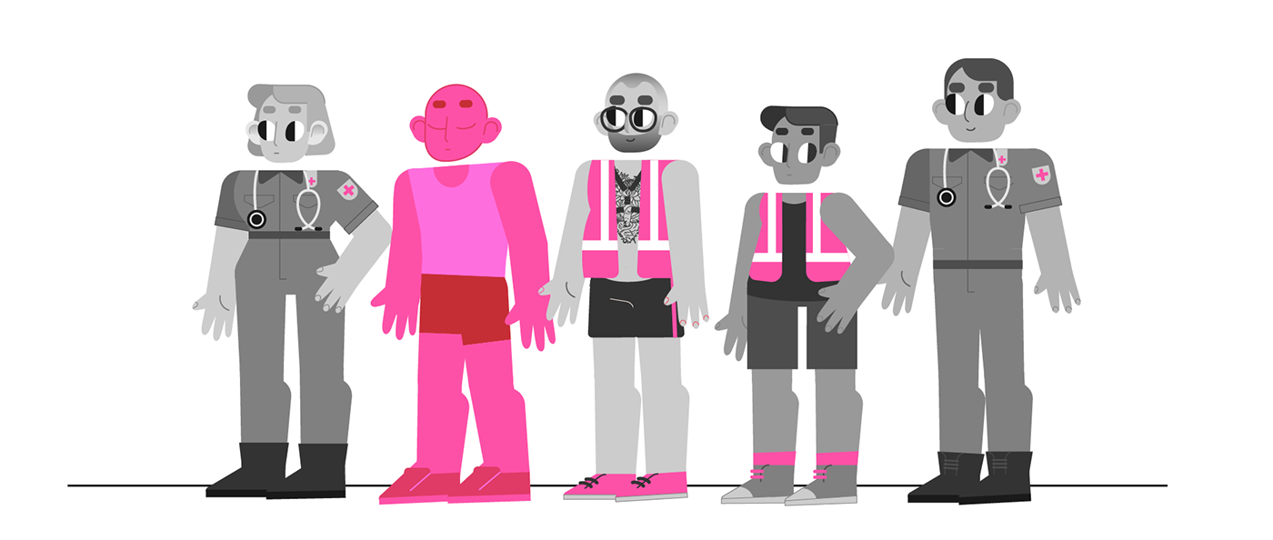 aCon animation  motion motion design queer rovers LGBT party motion graphics  pink