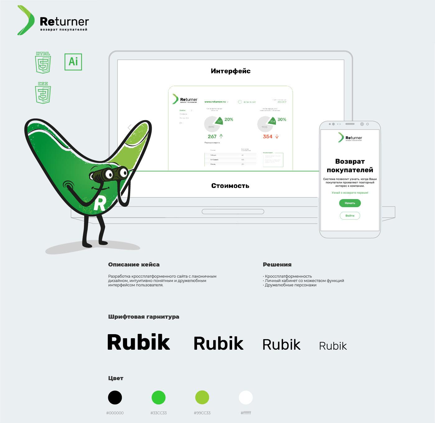 return of customers returner buy user return selling site Web design logotypes ILLUSTRATION