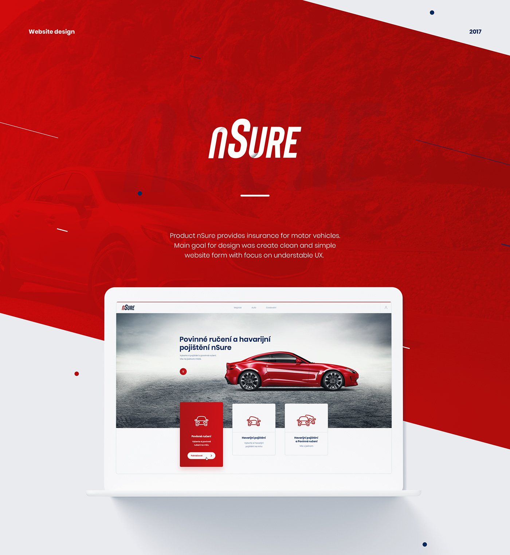 ux iu Form insurance red clean car Web design Webdesign