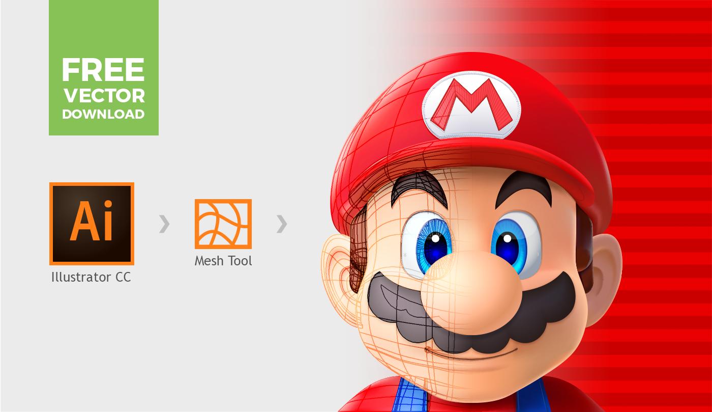 Vector Character Design Illustrator : Super mario vector illustrator mesh tool on behance