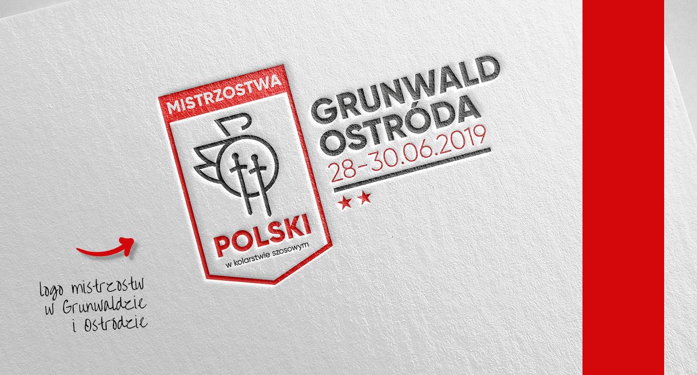 Cycling publishing   championships red gold design poster logo branding