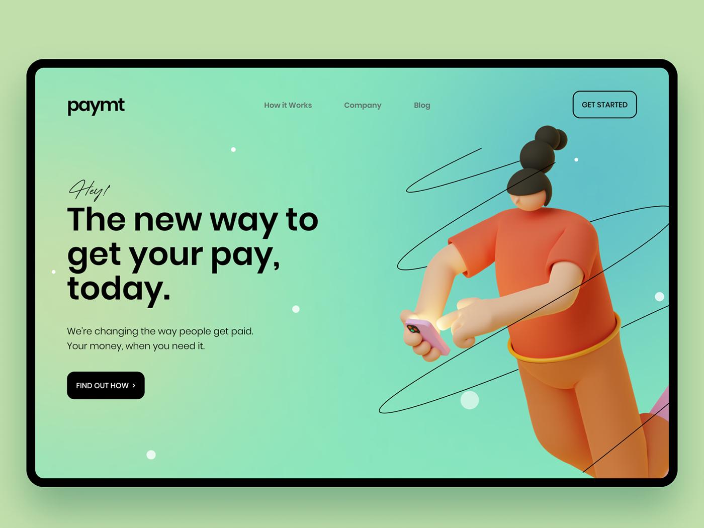 Bank banking clean website finance minimal design payment user experience WALLET Webdesign Website