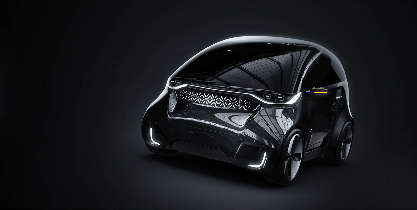 2sympleks car eco electric MINI tesla
