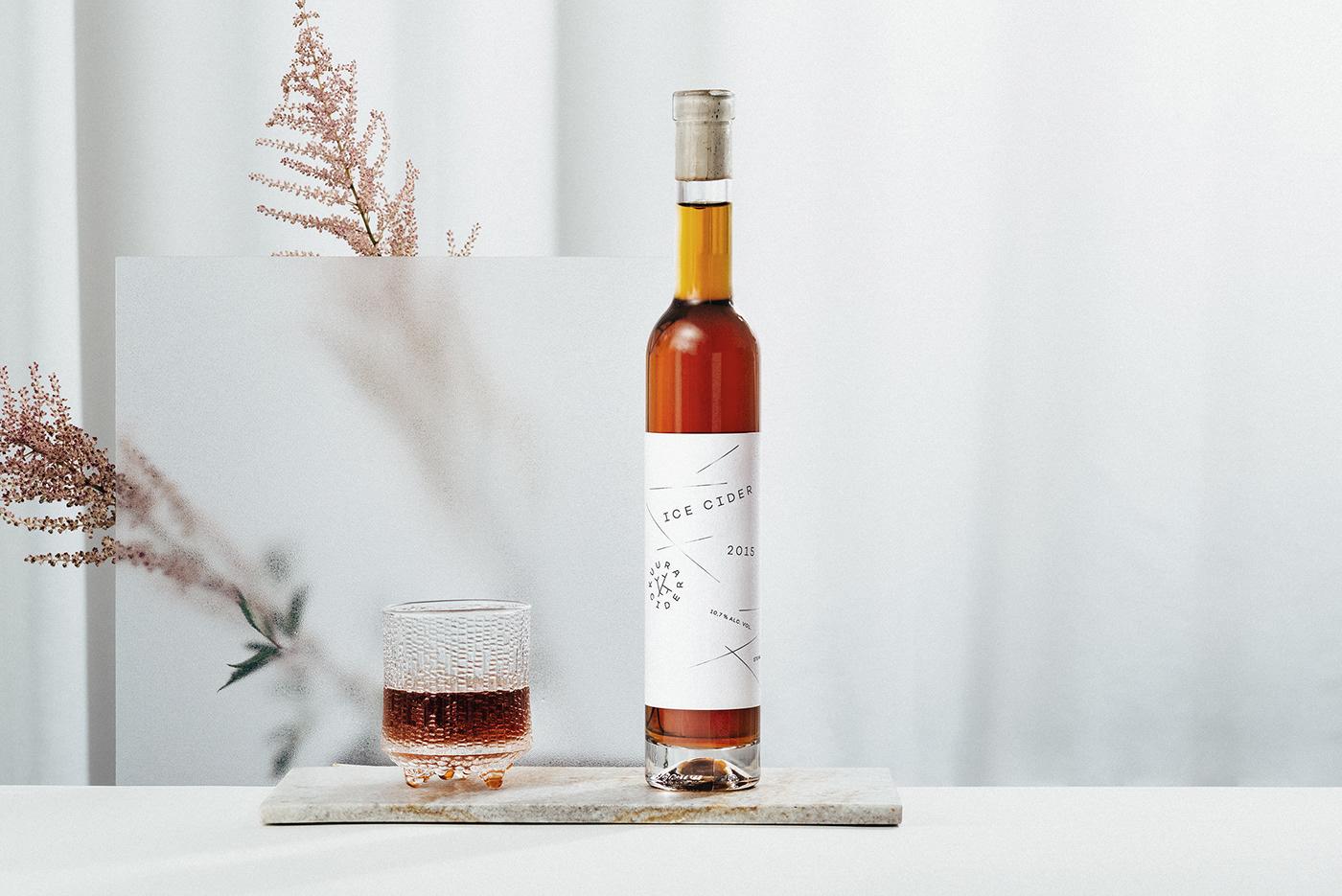 Label cider Scandinavian artisanal label design minimalistic Hot Foil