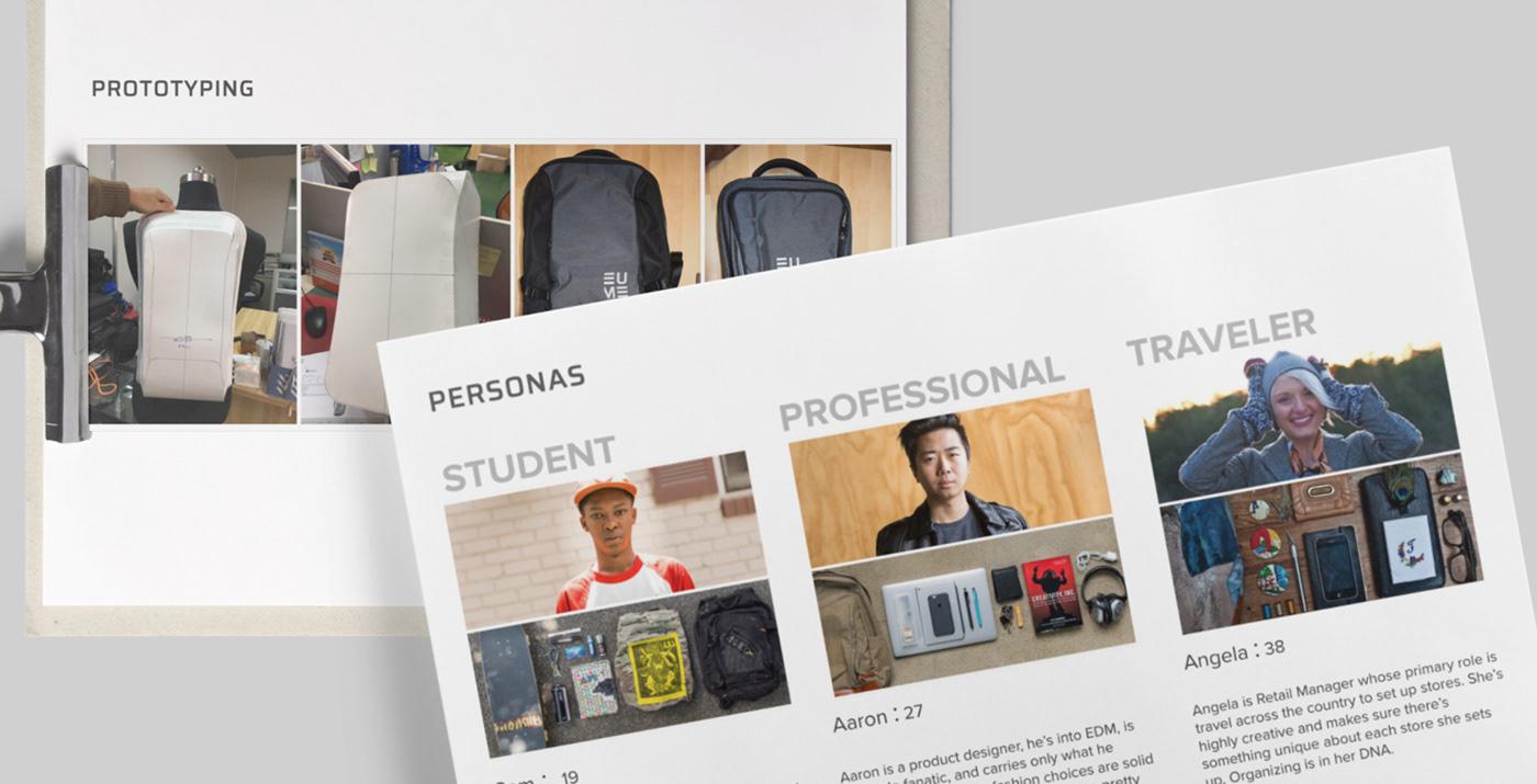 Kickstarter productdesign industrialdesign travel bag backpack Massager luggage crowdfunding cmf Behance