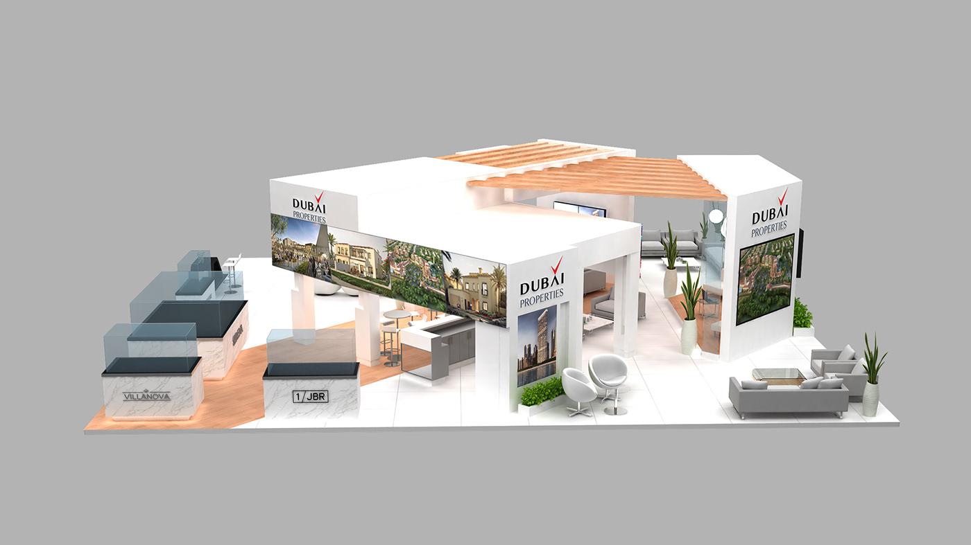 D Exhibition Jbr : Dp ips exhibition stand on behance