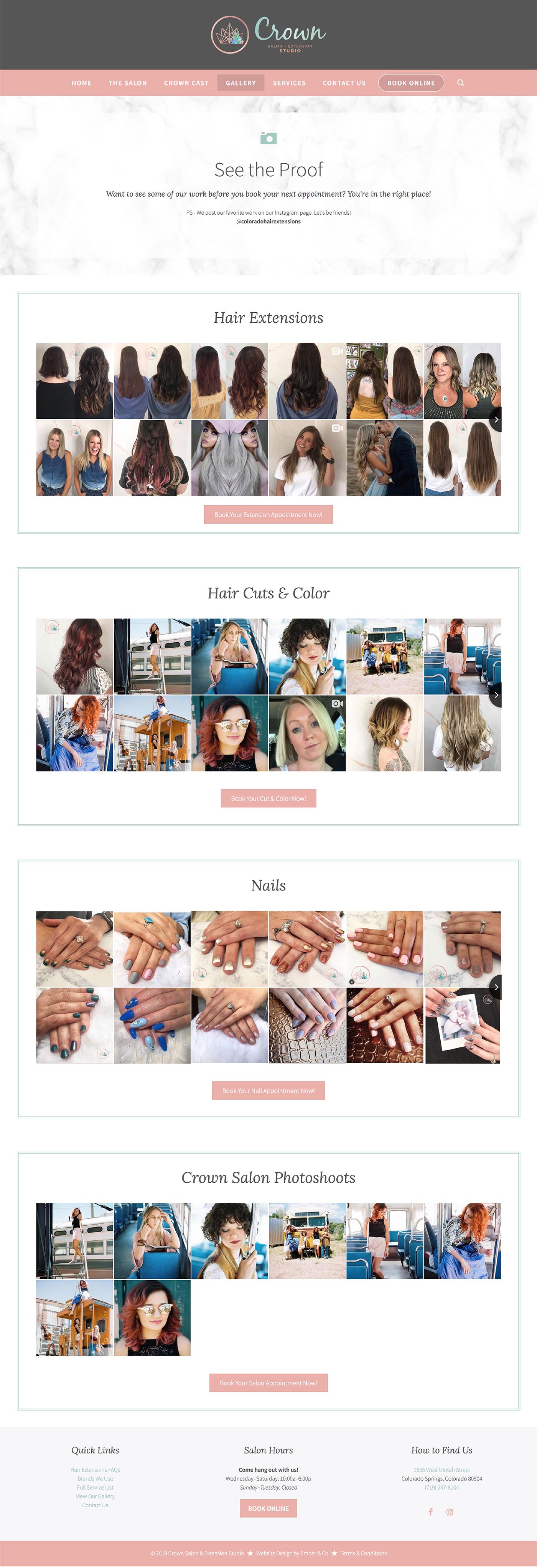 Wordpress Website for Hair + Beauty Salon
