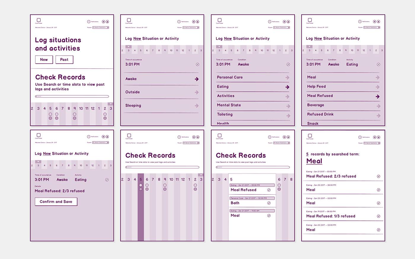 care elder Health App HiFi Prototype iPad App MobileUIUX MobileUIUXDesign senior Tablet app design VisualDesign